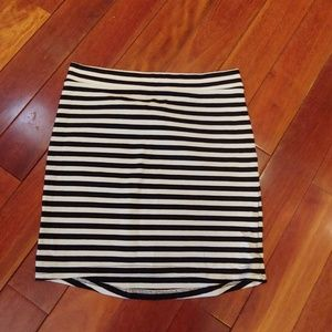 H&M Basic Divided - black/white striped skirt